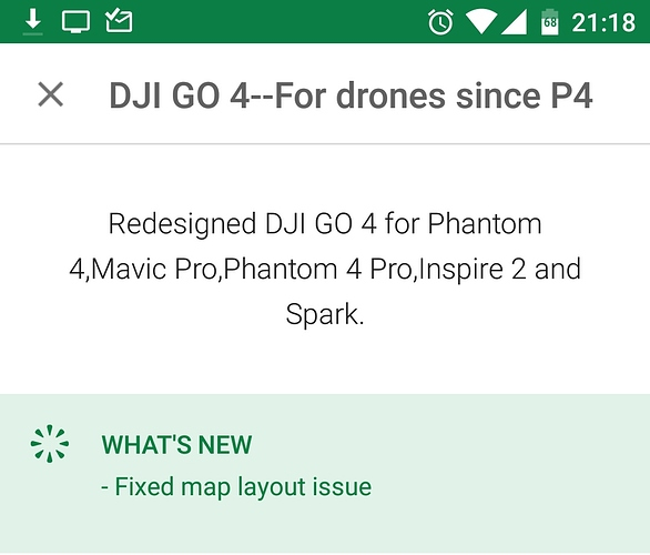 DJI Go4 v4 2 21 (Android) - Drone Discussion - Grey Arrows Drone Club UK