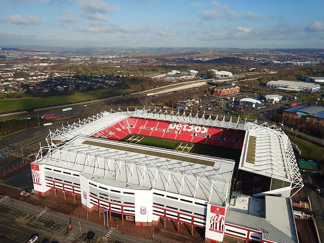 Stoke City - Bet365 Stadium - Videos by Drone - Grey Arrows