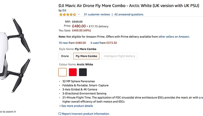 Nice UK Price on Mavic Air    - May 2019 - Drone Discussion