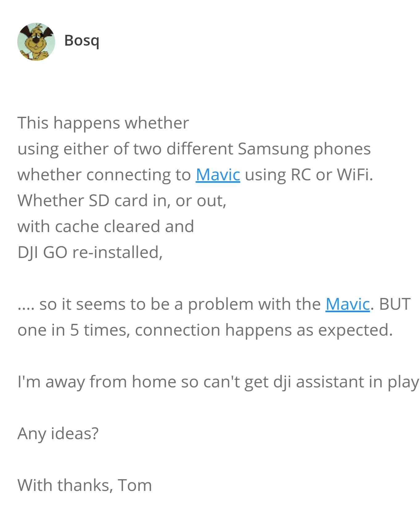 DJI GO and LITCHI both stop upon Mavic Pro connection